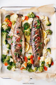 TROTA COTTA con burro peperoncino e verdure