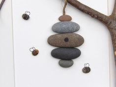 Scottish pebble art picture Beehive by PebblePictures on Etsy