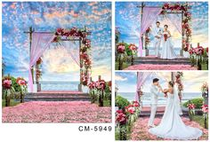 6.5x10FT Custom Wedding Backgrounds Photography Backdrops Photo Studio Sea Beach Photo Backdrops For Photographic Backgrounds
