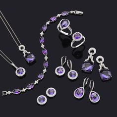 Gorgeous selection of amethyst and diamond white gold jewellery by Luke Stockley: designed in Hatton Garden, London <3
