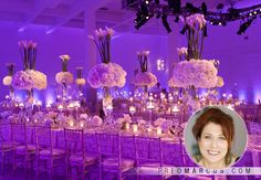 Marcy Blum Lebron James' Wedding Planner; love tables and flowers