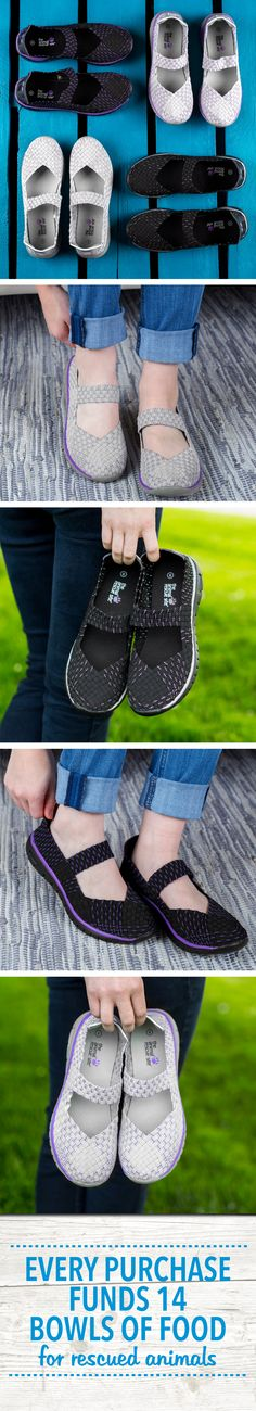 Lightweight and easy to slip on, these shoes keep up with your busy lifestyle! Complete with textured soles for added traction and topped with a single paw print on the heel, sharing your support for a cure with you wherever you go!