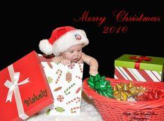 Christmas card ~ baby Christmas photos