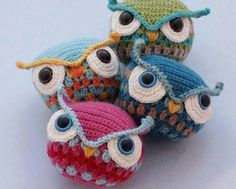Buhos tejidos al crochet