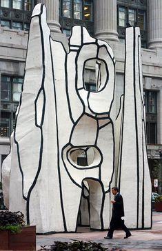 jean dubuffet thompson_center_statue_monument_with_standing_beast. Abstract Sculpture, Sculpture Art, Jean Dubuffet, Grandeur Nature, Sculpture Lessons, Art Brut, European Paintings, Arte Popular, Modern Area Rugs