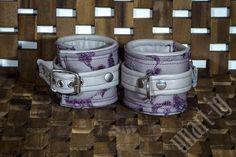 graue Armfesseln mit violetter Spitze von unartigAustria auf Etsy
