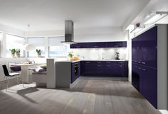 Lila Küche von Impuls by ALNO / purple kitchen by Impuls / ALNO  PURPLE kitchen  Lila Küche von Burger Bauformat / purple kitchen by Burger Bauformat  http://www.dyk360-kuechen.de/kuechen/