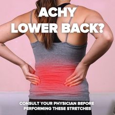 Stretches For Lower Back Pain - Yoga Fitness Ideas Fitness Workouts, Yoga Fitness, Sport Fitness, At Home Workouts, Health Fitness, Massage Tips, Massage Therapy, Massage Techniques, Workout Challenge