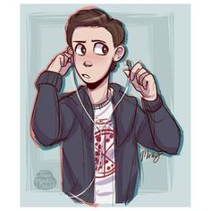 This is such great fan art!!!! Tom Holland as Peter Parker - visit to grab an unforgettable cool 3D Super Hero T-Shirt!