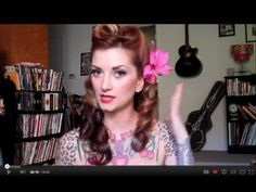 Victory Roll Vintage Hair Tutorial by CHERRY DOLLFACE.