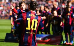 Lionel Messi Photos Lionel Messi Of Fc Barcelona Holds His Son Thiago Prior To The La Liga Match Between Fc Barcelona And Rayo Vallecano De Madrid At Camp