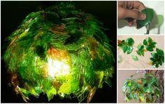 DIY Leaf Lamp Shade from Plastic Bottles FabArtDIY