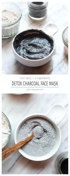 This easy DIY Detox Charcoal Face Mask offers all the benefits of the fancy store bought masks, at a fraction of the cost! Charcoal and clay will pull dirt and oil from your pores and leave you with soft clean skin and visibly smaller pores. Avon Planet Spa, Homemade Face Masks, Homemade Skin Care, Homemade Beauty, Homemade Blush, Homemade Moisturizer, Aloe Vera, Diy Cosmetic, Smaller Pores