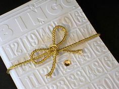 Bingo Stationery Gift Set, White Embossed Notecards, Bing Cards, Greeting Cards by AuriesDesigns on Etsy
