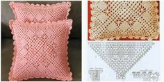 3 moldes para hacer Funda de cojín a crochetConMoldes.com Crochet Granny, Crochet Top, Kiwi, Knitting, Women, Making Cushion Covers, Crochet Skirts, Crochet Doilies, Loom