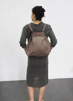 Brown leather backpack bag  Brown Jessy bag by LadyBirdesign, $210.00