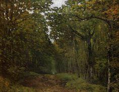 "Alfred Sisley  ""Avenue of Chestnut Trees near la Celle Saint Cloud"" (impressionism)"
