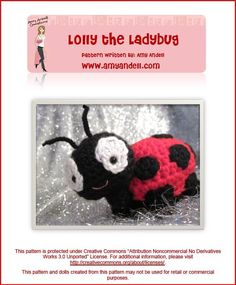 Lolly the Ladybug Amigurumi Crochet Pattern by amyandell on Etsy, $4.00