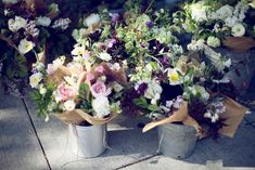 Sanctuary: A San Francisco Brunch  posies in pails : peony, herbs