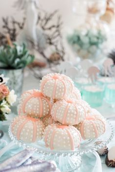 Sea Urchin donuts from a Majestic Under the Sea Birthday Party on Kara's Party Ideas | KarasPartyIdeas.com (36)