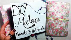 DIY Midori traveler's notebook Travelers Notebook, Bullet Journal, Youtube, Diy, Bricolage, Do It Yourself, Youtubers, Homemade, Diys