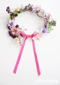 Super cute fairy flower crown DIY!