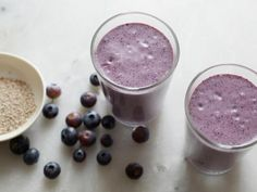 Get Blueberry and Chia Seed Smoothie Recipe from Food Network