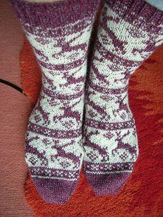 Ravelry: reindeer socks pattern by Sandra Jäger