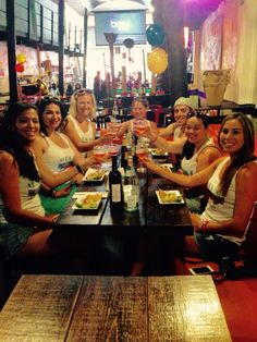 6/26/2015- Enjoying  Refajo, Ceviche and a Colombian Empanada  at Bolvier Restaurant with a beautiful bride to be and her bridal party - on  The South Beach Food Tour