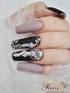 Gold Glitter Nails, Cute Acrylic Nails, Toe Nail Art, Nail Art Diy, Cute Nails, Sexy Nails, Glam Nails, Bling Nails, Caviar Nails