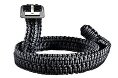 RattlerStrap Paracord Wilderness Survival EDC Belt - Feet of USA Made 550 lb. Emergency Nylon Parachute Cord Handwoven Around Titanium Buckle - Black, Brown, Camo - Titan Series Paracord Belt, Paracord Bracelets, Paracord Projects, Paracord Ideas, Survival Straps, Edc Belt, Everyday Carry Gear, Parachute Cord, Black Belt