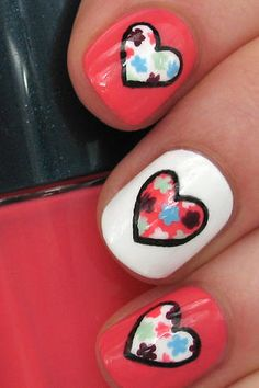 Nail Art I heart nail art. And although I'm not a massive celebrator of Valentine's Day, Liz Earle) and white (White by Mash) and alternated the polish colors. You can always do this nail art a dotting tool or a nail art pen for this step. To draw a pretty heart, try this technique. Draw three dots