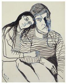 Alice Neel, Hartley and Ginny, 1970 •