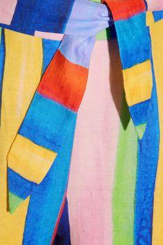 Mara Hoffman - Striped Organic Linen Wide-leg Pants - Blue - US12