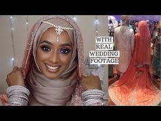 PARTY/EID/WEDDING HIJAB TUTORIAL WITH EARRINGS & TIKKA - YouTube Wedding Hijab, Wedding Makeup, Muslim Couples, Day Makeup, Wedding Videos, Hijab Tutorial, Makeup Videos, Eid, Hijab Fashion