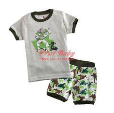 Grátis nightshirt envio Verão meninos caricatura crianças pijamas definir pijama bebê algodão sleepwear camisas macias das crianças + short set