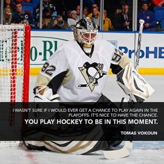 Hate the Pens, but love Vokoun, glad he has had another moment to shine.