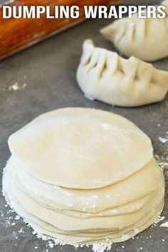 Easy to make homemade dumpling dough recipe. Better than store bought ones. This simple recipe only uses 3 basic ingredients. #dumplings #dough #wrappers #easyrecipe #elmundoeats