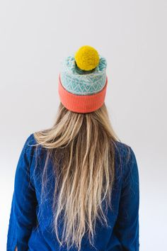 c5639be47eb Ettrick Hat. A thick lambswool bobble hat made in Scotland. Luxury Scottish  Knitwear by