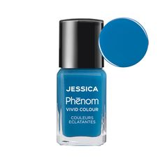 Nail polish colour Fountain Bleu from the Jessica Phenom range. Longer lasting and more resilient. £13.50 for 15ml sized bottle. Fast UK delivery.