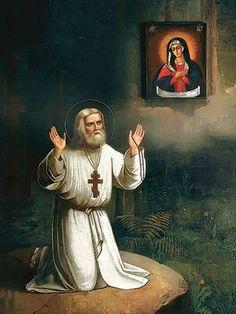 St Seraphim of Sarov, 6×8, $4.00, Catalog of St. Elisabeth Convent…
