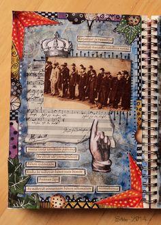 Art Journal by *Silkku* silkkus.blogspot.fi Art Journal Pages, Handmade, Hand Made, Craft, Handarbeit