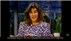 Laura Branigan January 9, 1985. She is visiting legendary Johnny Carson and his Tonight Show. Watch more...  https://www.youtube.com/watch?v=OjwpjucZJ6U