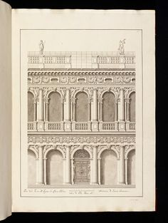 Architectural drawing      Place of origin:    Italy (made)      Date:    18th century (made)      Artist/Maker:    Visentini, Antonio, born 1688 - died 1782 (designer)      Materials and Techniques:    Pen and ink and watercolour on paper      Credit Line:    Accepted by H M Government in lieu of Inheritance Tax and allocated to the Victoria & Albert Museum, 2000 - V & A
