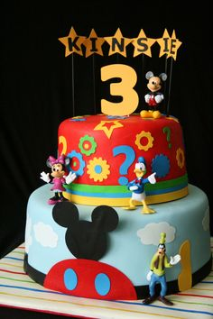 Mickey Mouse Clubhouse Birthday Cake.