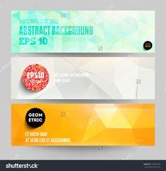 Banners Set For Business Modern Background Design, Eps10 Vector Illustration…