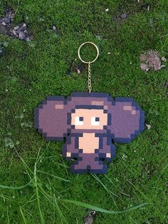 Hey, I found this really awesome Etsy listing at https://www.etsy.com/ru/listing/222852740/cheburashka-pixel-art-keychain-bag