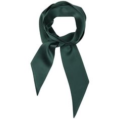 Calm Bowknot Tie Scarf ($49) ❤ liked on Polyvore featuring accessories, scarves, green shawl, tie scarves, green scarves and rainbow scarves