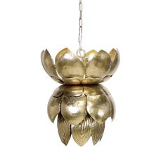 BLOSSOM S - METAL PENDANT CHAMPAGNE SILVER LEAFED WITH LEAVES. COMES WITH 3' MATCHING CHAIN AND CANOPY. USES (1) 60 w INCANDESCENT BULB.  ADDITIONAL CHAIN MAY BE PURCHASED UPON REQUEST.