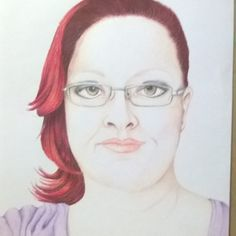 """""""Auto retrato em vermelho"""" (lápis de cor s/ papel) - #art #arte #ilustração…"""